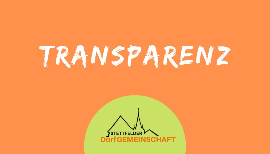 Transparenz und Information